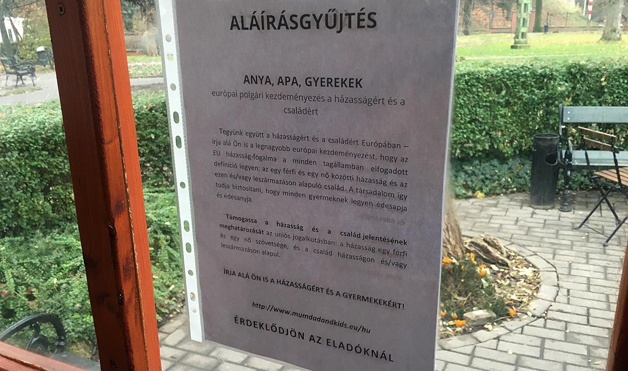 A Lipóti Pékség elnézést kért a János-kórház melletti üzletében folyó melegházasság-ellenes aláírásgyűjtés miatt