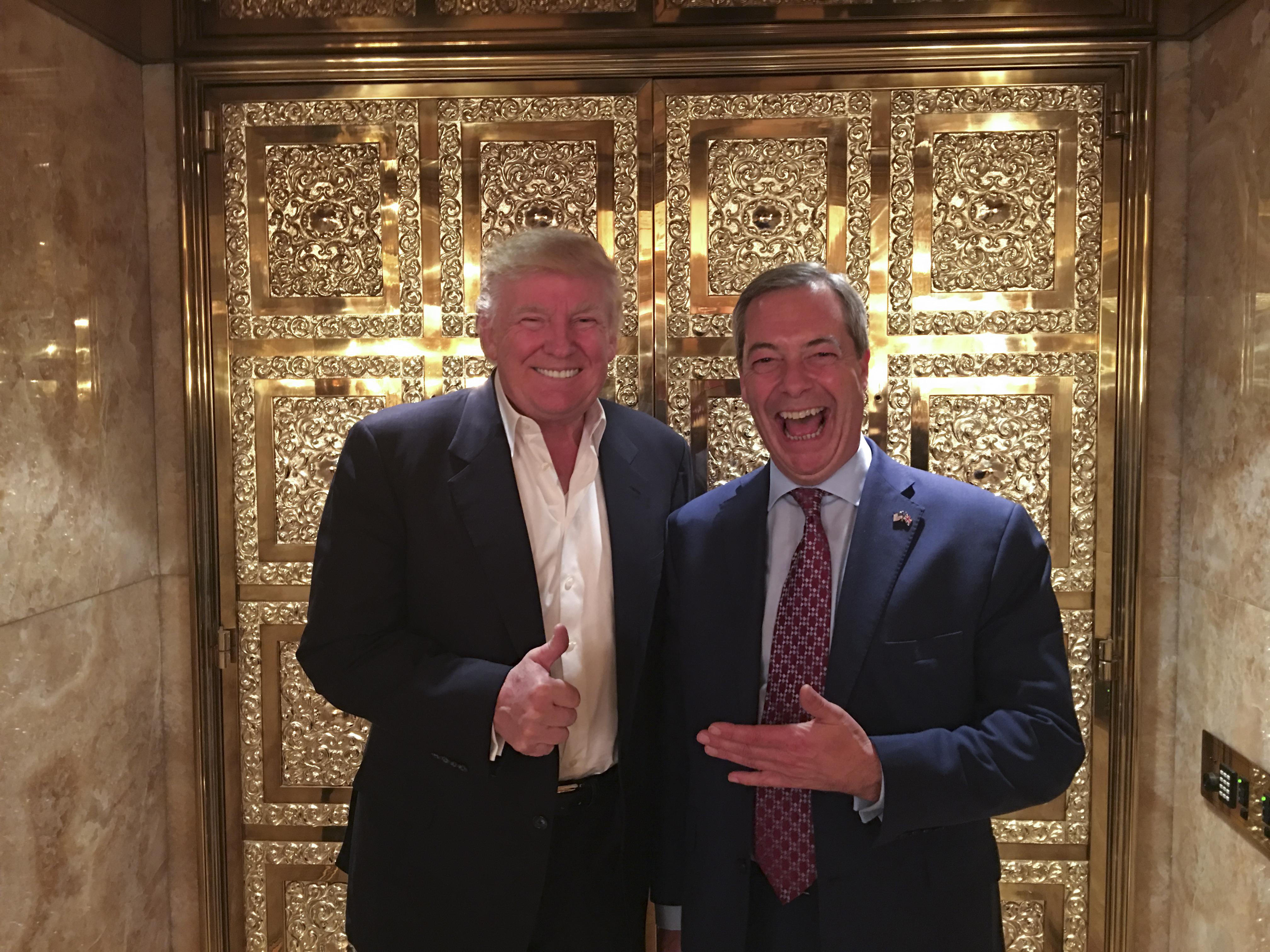 Trump szerint Farage nagyszerű nagykövet lenne Washingtonban