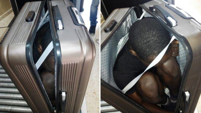 Bőröndben próbáltak becsempészni egy gaboni férfit Spanyolországba