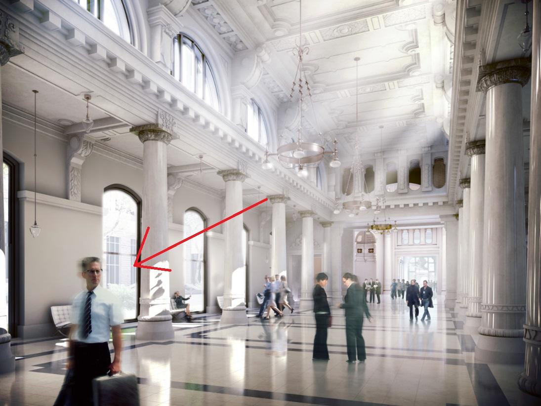 Az uzival felfegyverzett Michael Douglas keveredett a Tőzsdepalota látványtervére