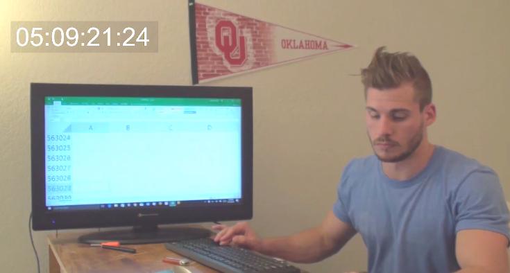 Hétköznapi hős: Az ember, aki egyesével lépkedett le egy Excel-táblázat aljára