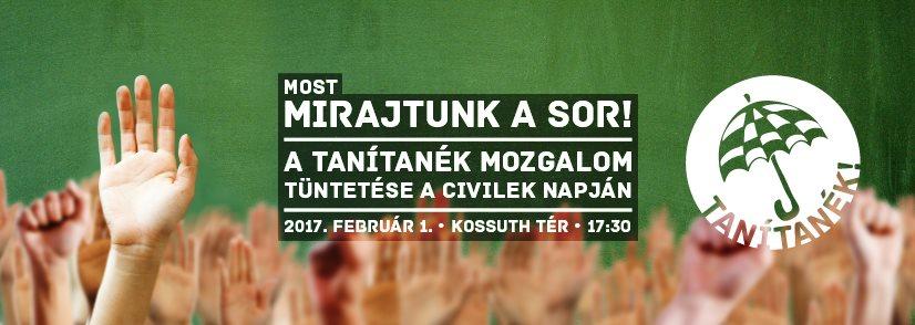 Tanárok tüntethetnek a civilek mellett február 1-én