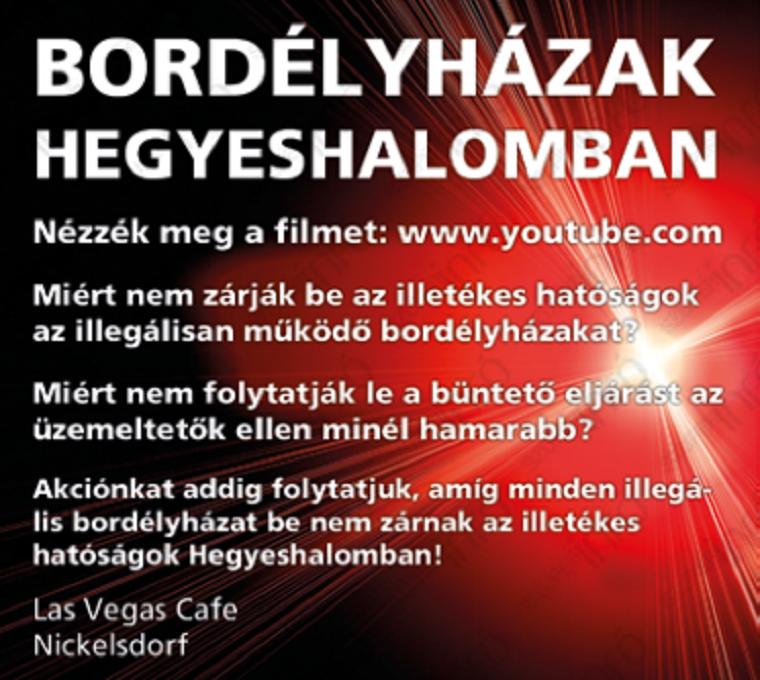 A Szuperinfóban feladott fizetett hirdetésekben állítja egy osztrák bár, hogy Mosonmagyaróvár tele van illegális kuplerájokkal