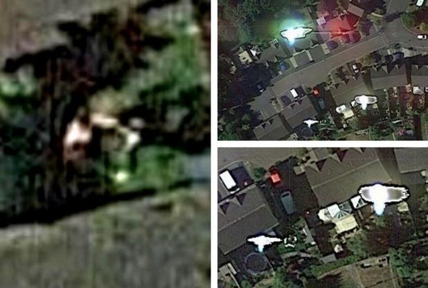 Egy brit férfi szerint a Google műholdképén látszik, ahogy ő éppen arcon üt egy földönkívülit