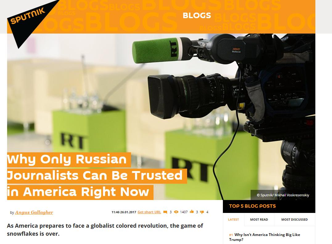 Az FBI nyomoz a Sputnik News után
