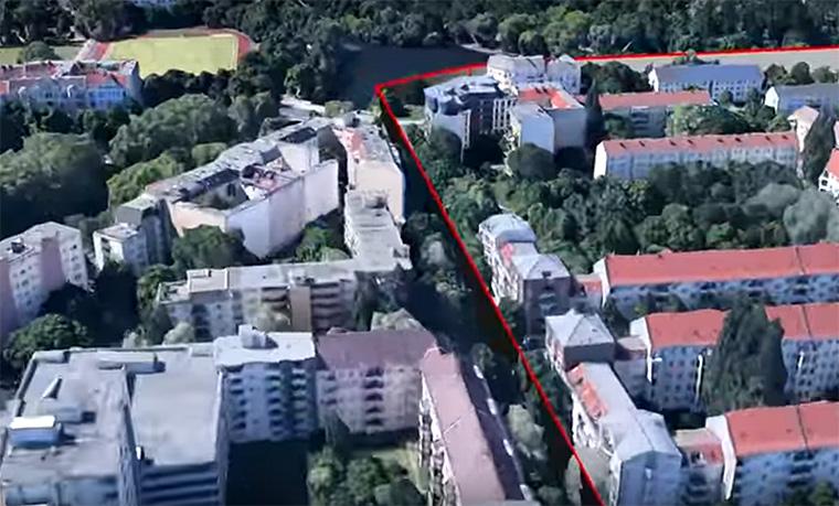 A Google Earth-ön újraépítették a berlini falat