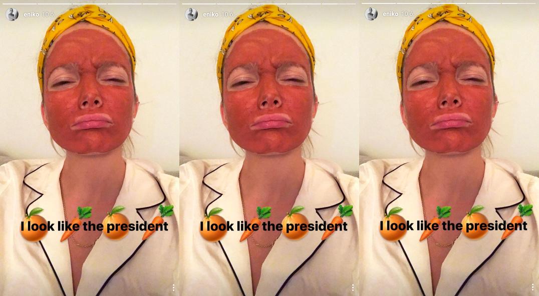 Mihalik Enikő Donald Trumpnak öltözött