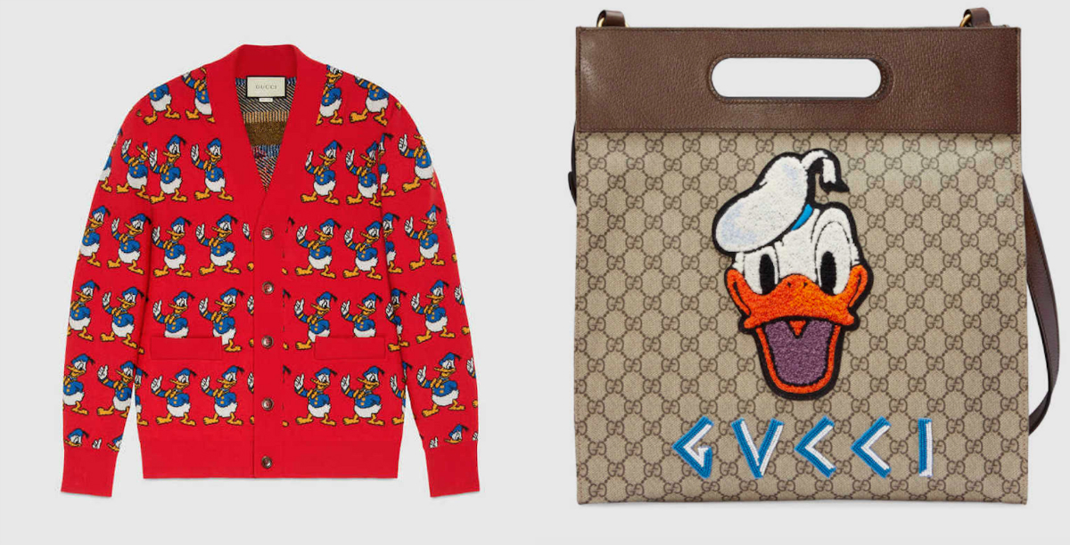 Donald-kacsás kollekcióval jelentkezik a Gucci