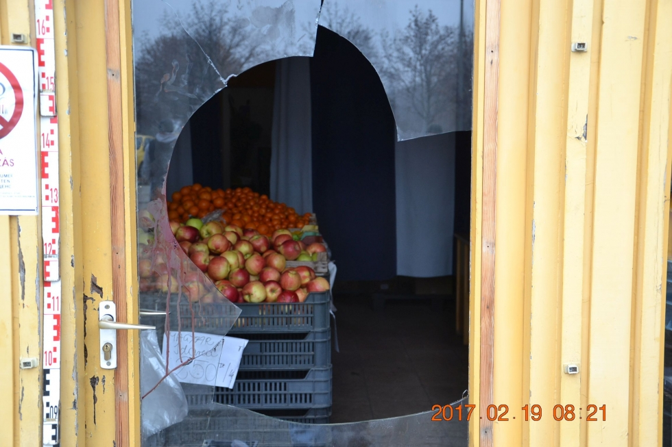Betört, hogy almát falatozzon, de összevérezte a tetthelyet