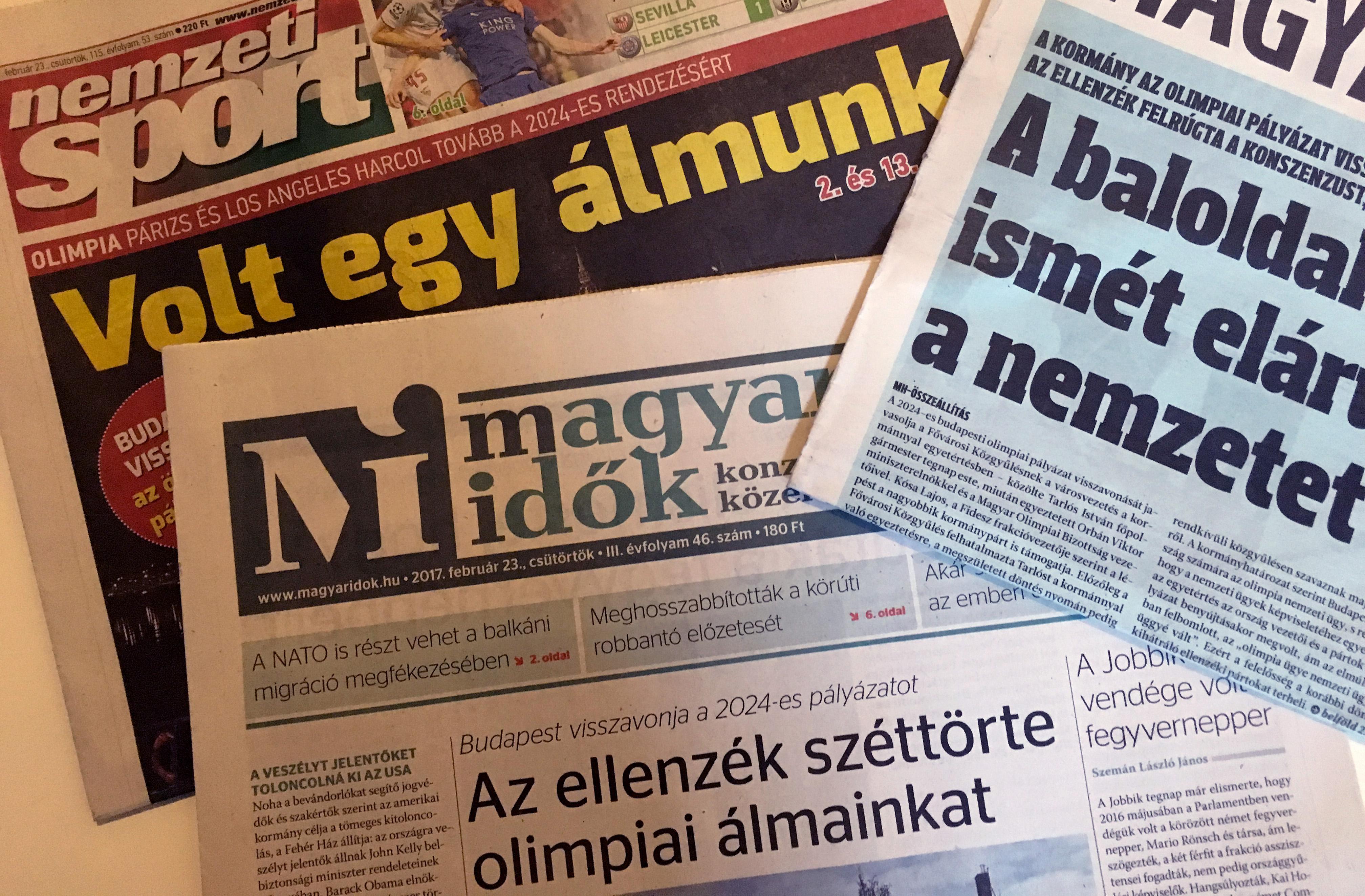 Trianoni hangulatban gyászolja az olimpiát a kormánypárti sajtó