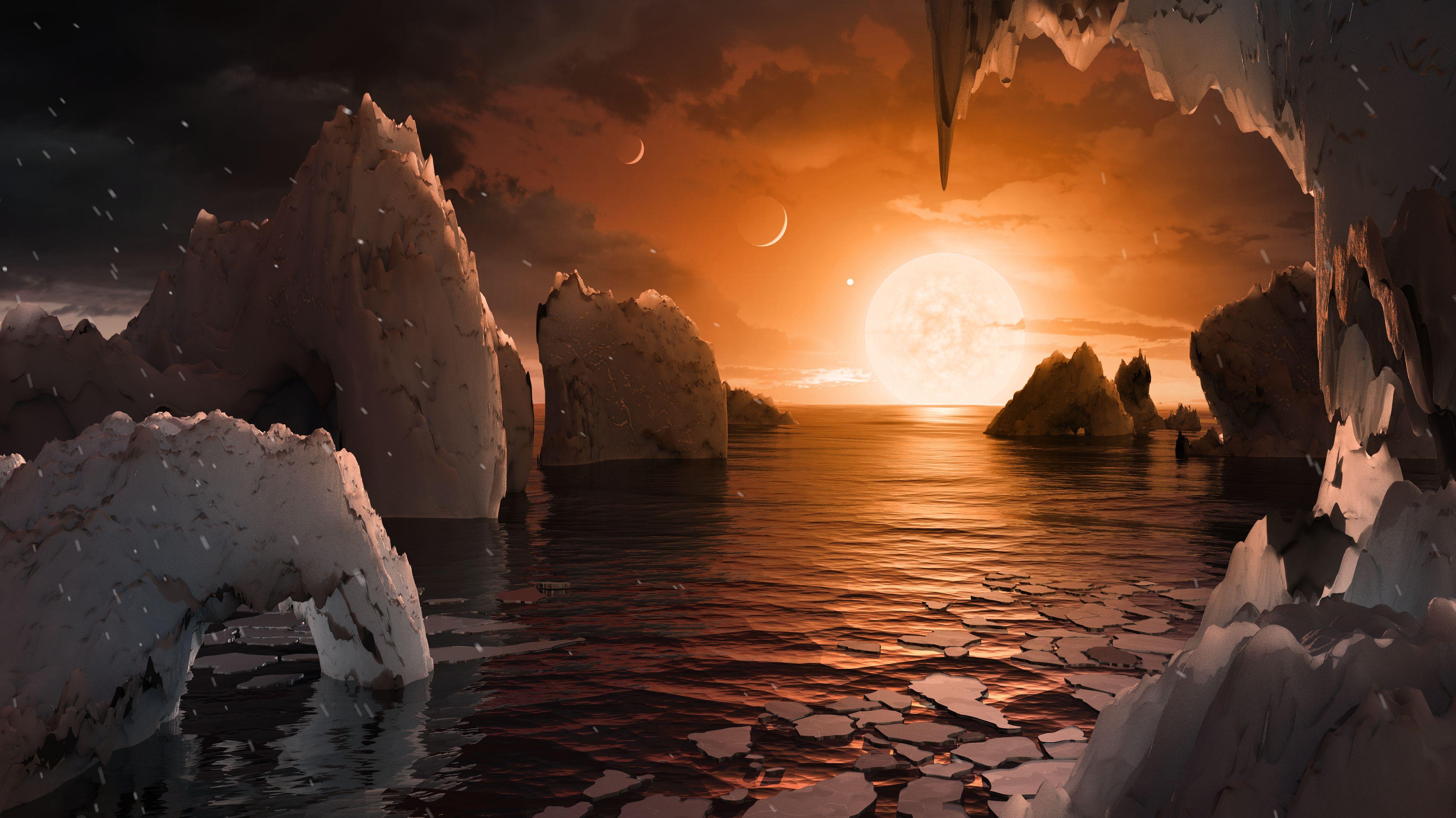 Ha van is élet az újonnan felfedezett naprendszerben, elég fura lehet
