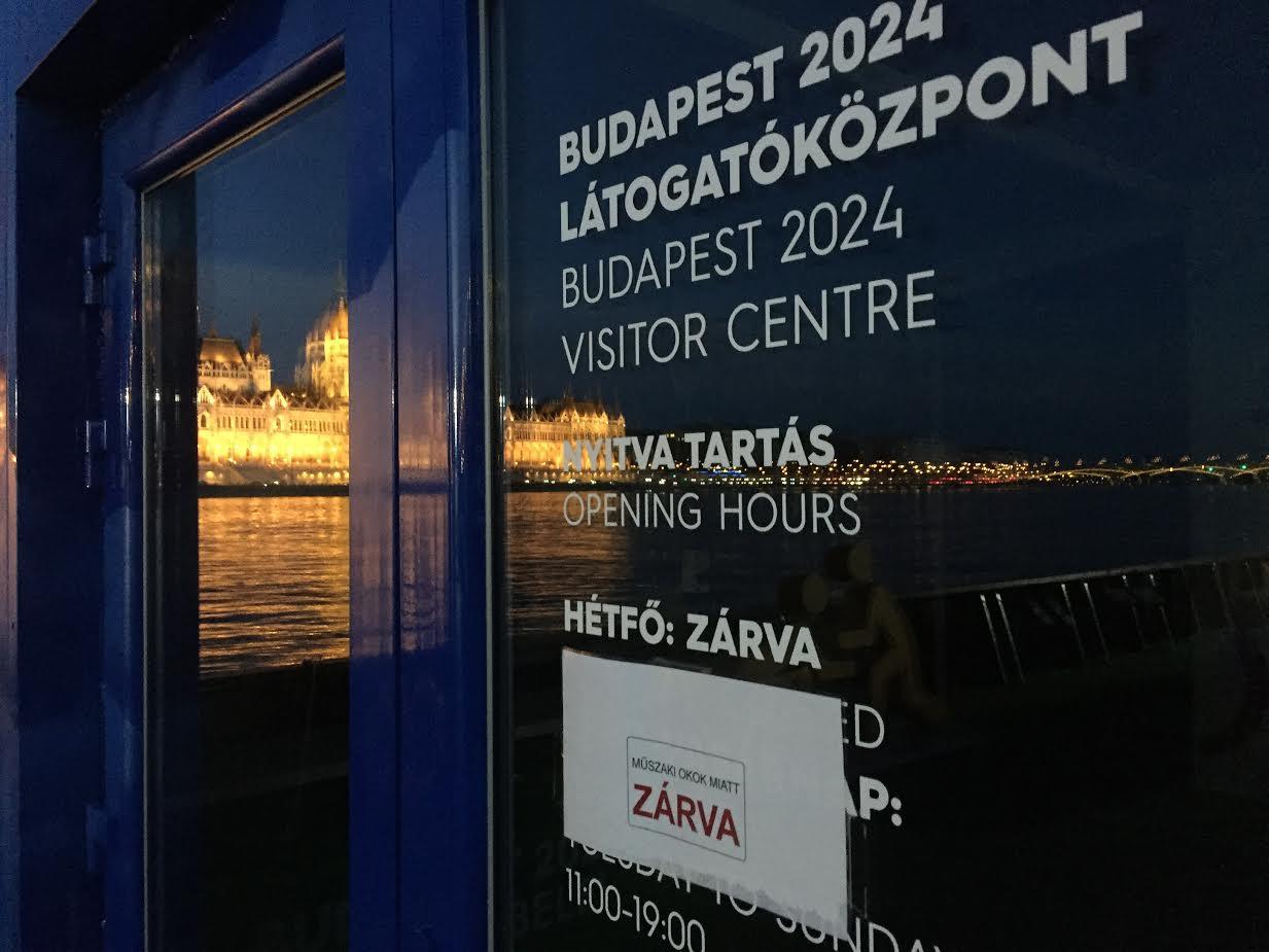 """""""Műszaki okok miatt"""" van zárva a 2024-es budapesti olimpia látogatóközpontja"""