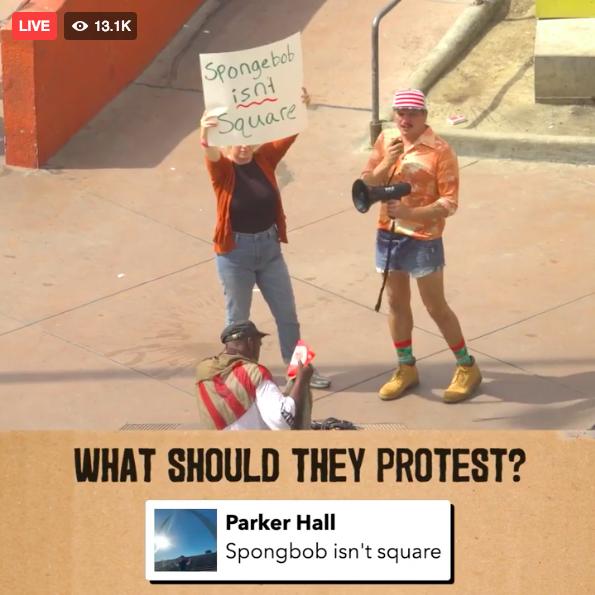 Élőben, Facebook-kommentben döntheted el, miért tüntessen üvöltve ez a két ember Los Angeles belvárosában