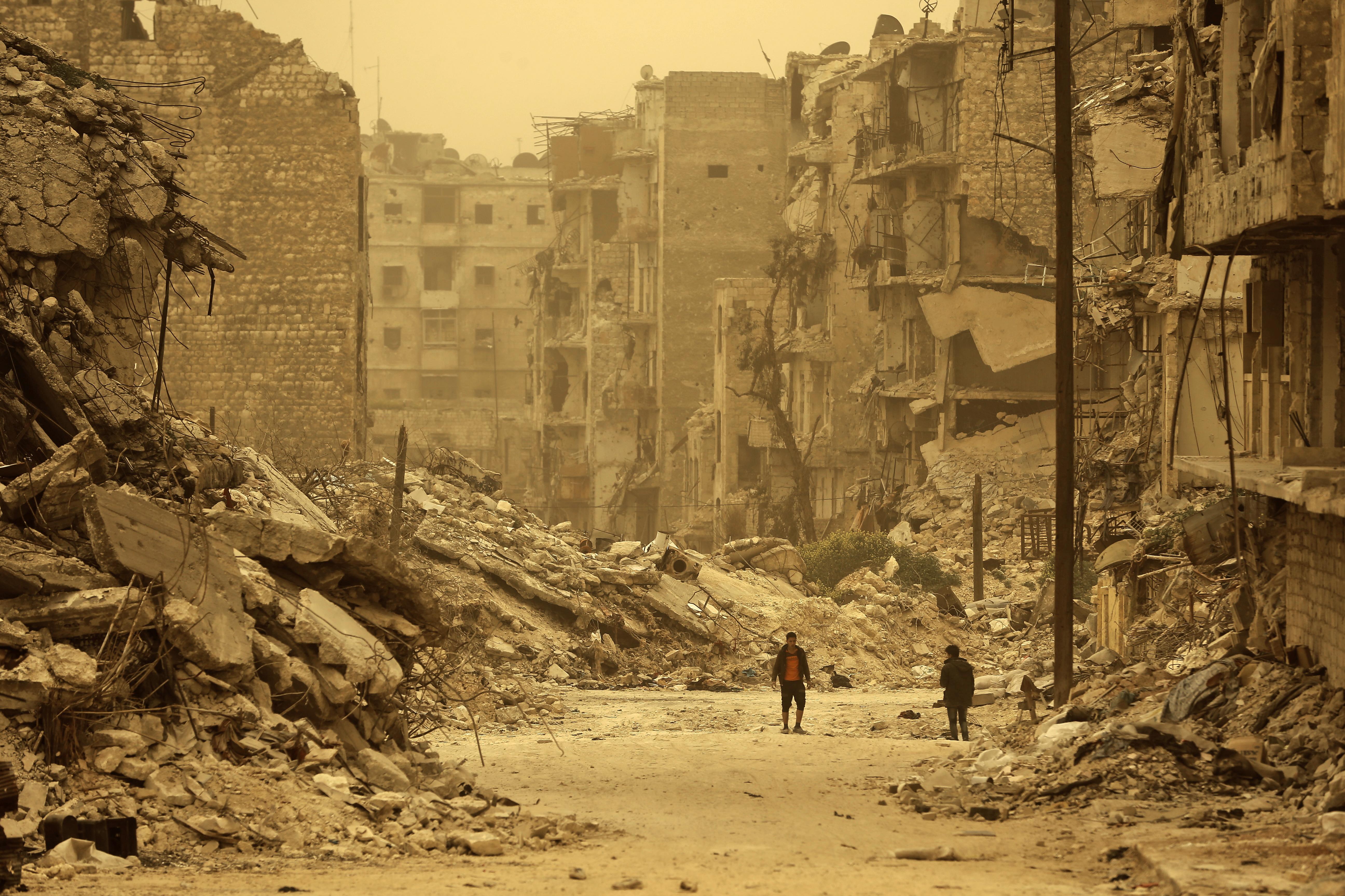 A szír állami hírügynökség szerint mérgesgáztámadás érte szombat éjjel Aleppót