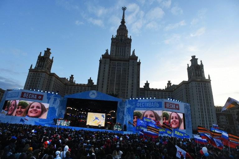 Egész Oroszországban ünnepségeket szerveztek a Krím elfoglalásának évfordulóján
