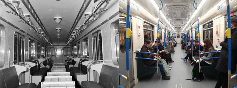 Kellemesen ringat és halk az új, akarom mondani felújított orosz metrókocsi