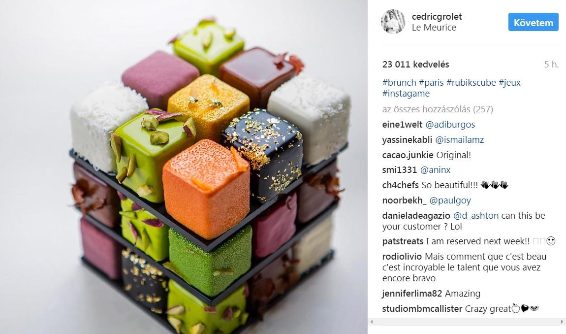 Csodálatos Rubik-kocka-tortákkal rukkolt elő Franciaország egyik legjobb cukrásza