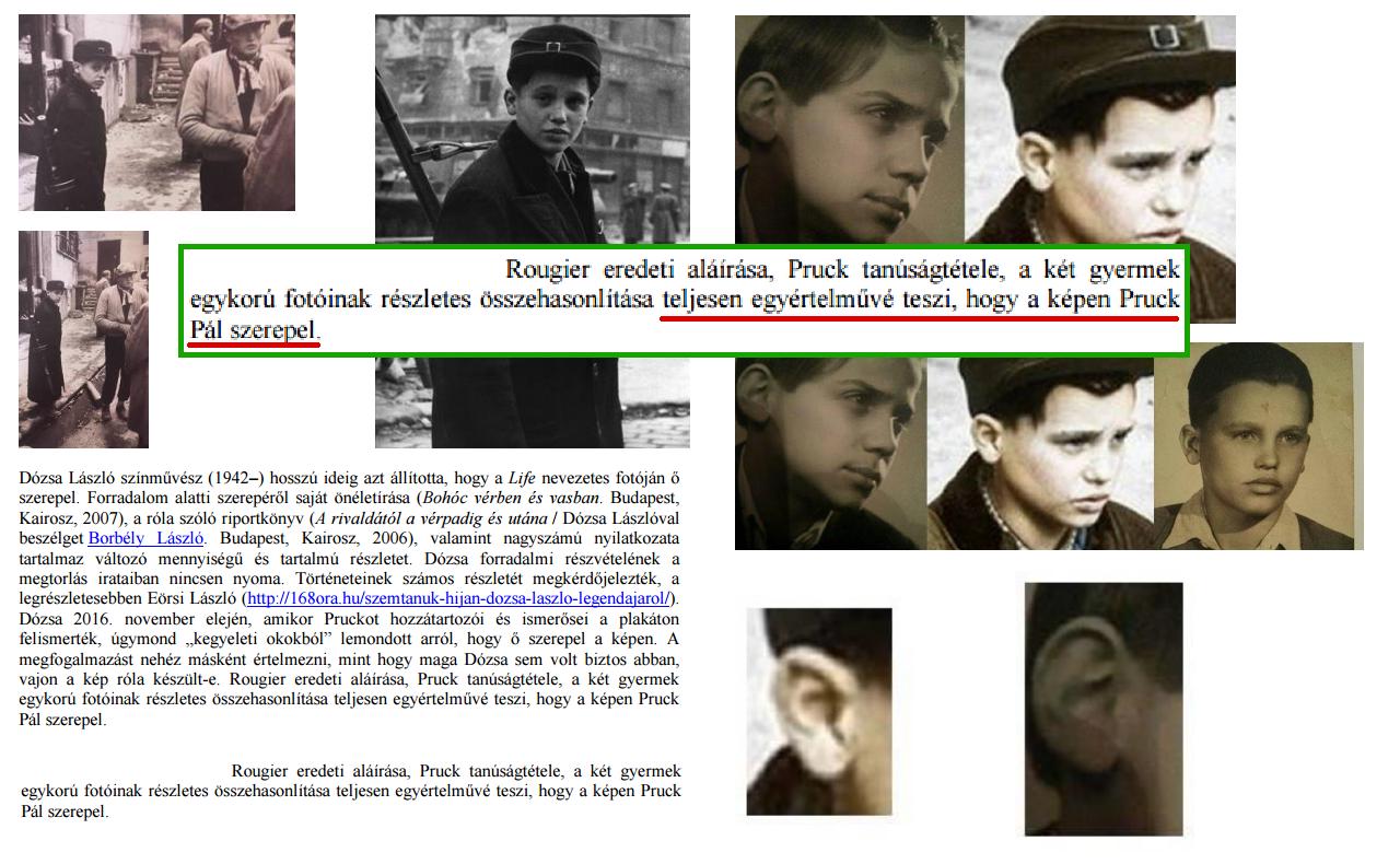 Antropológus szakértő: Pruck Pál és az 56-os fotón szereplő fiú nagy valószínűséggel ugyanaz a személy