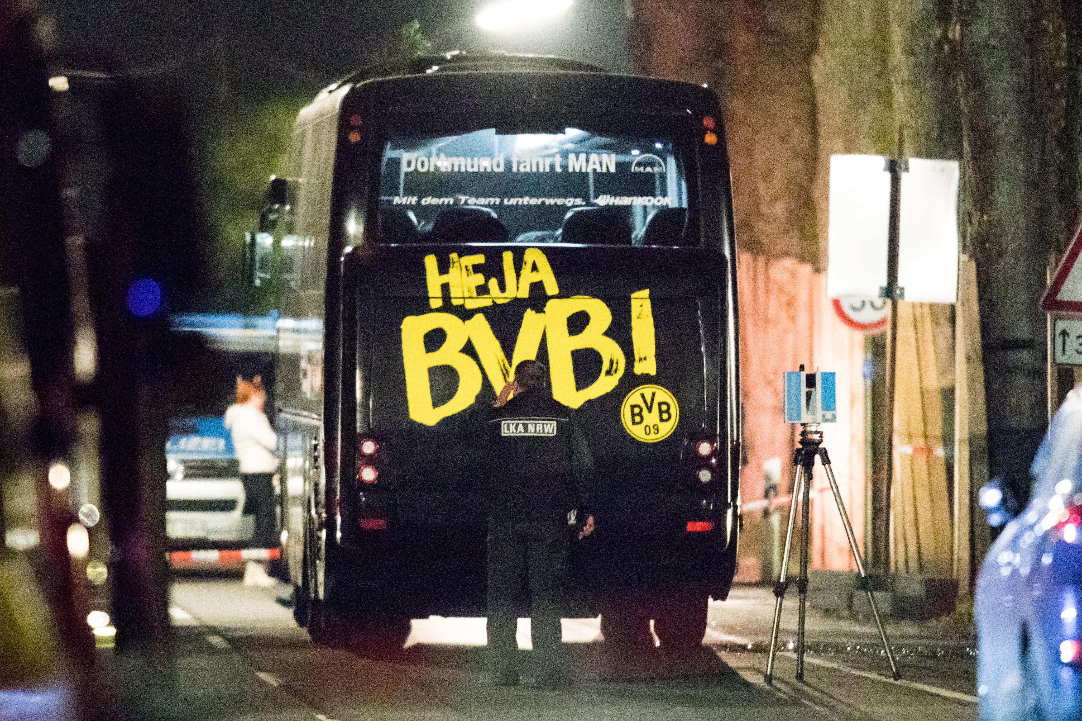Nincs nyoma terrorizmusnak a Dortmund busza elleni robbantásnál