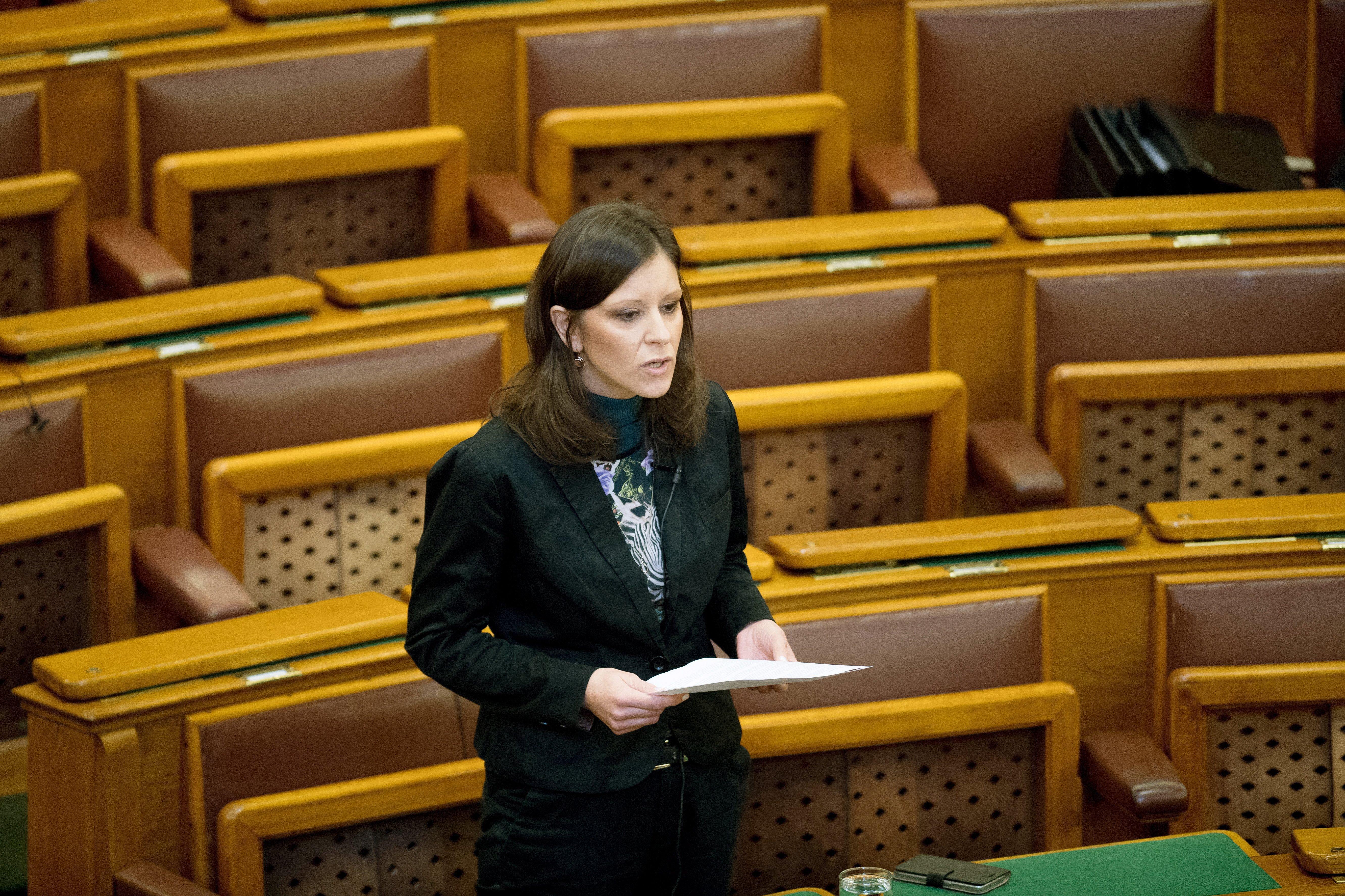 Szél Bernadett a civiltörvény parlamenti vitáján fel akarta mutatni a CÖKA teljesen üres beszámolóját, de a levezető elnök nem engedte, mert ez tiltott szemléltetés