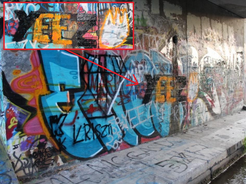 Próbálgatták magukat a 14 éves graffitisek, de ráfáztak