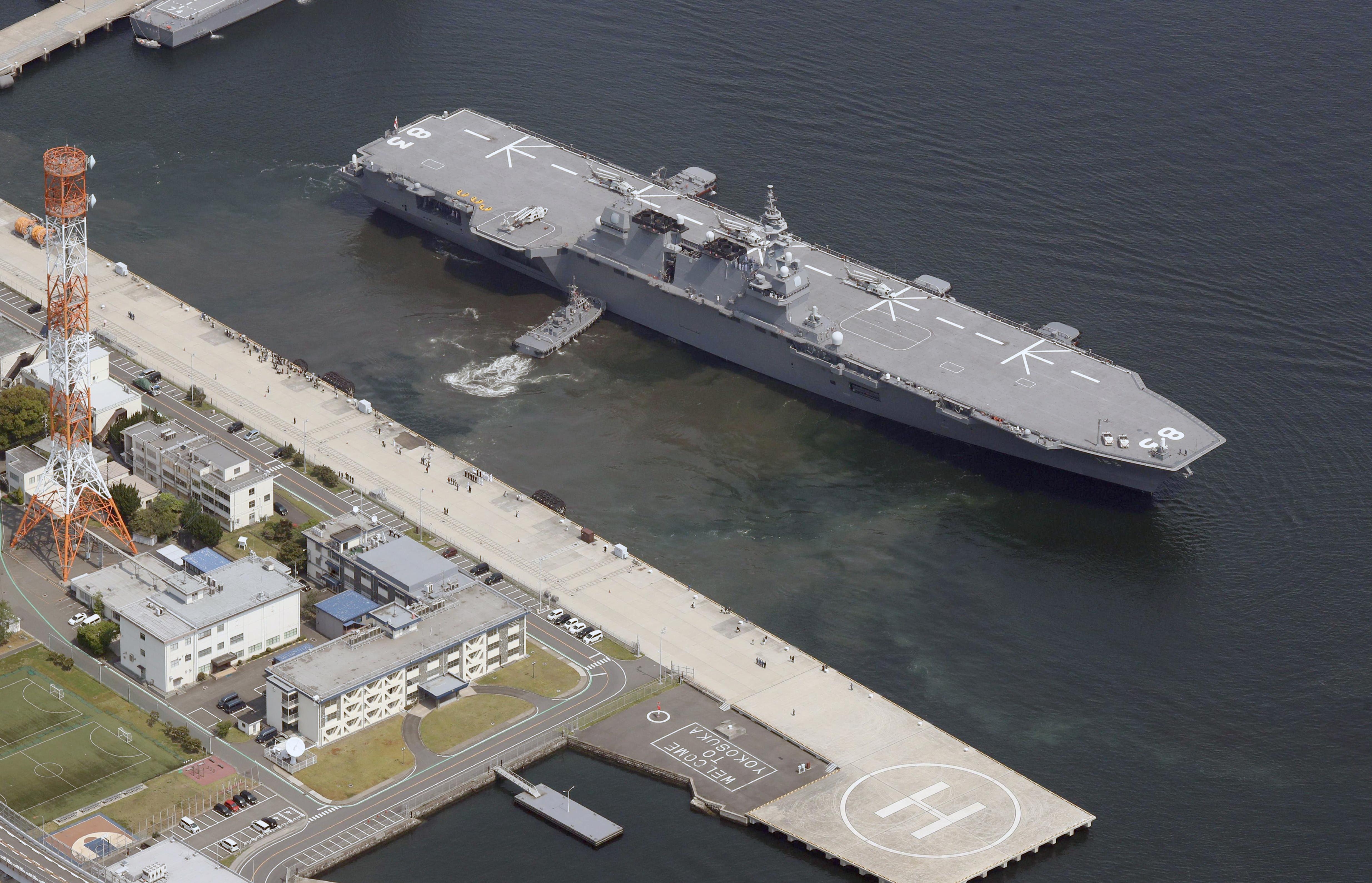 A második világháború óta először indult küldetésre japán hadihajó