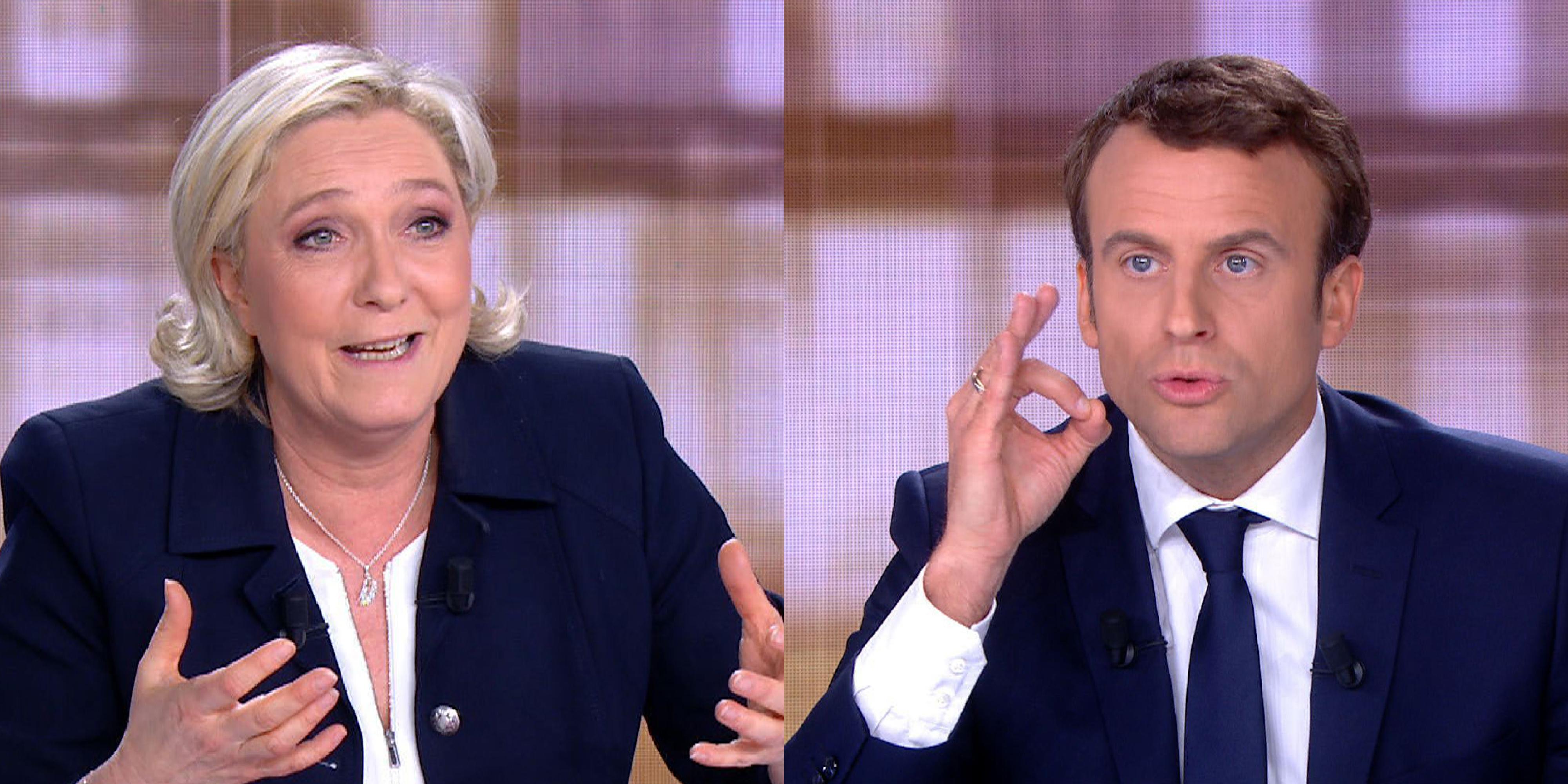 Brutális sértegetőpárbajjá fajult Macron és Le Pen első tévévitája