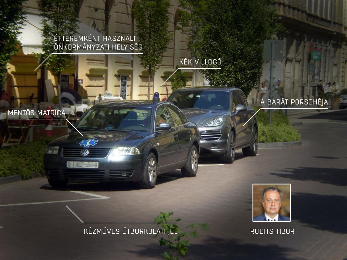 Ferencváros nagymenője villogóval jár, és saját burkolati jelen parkol