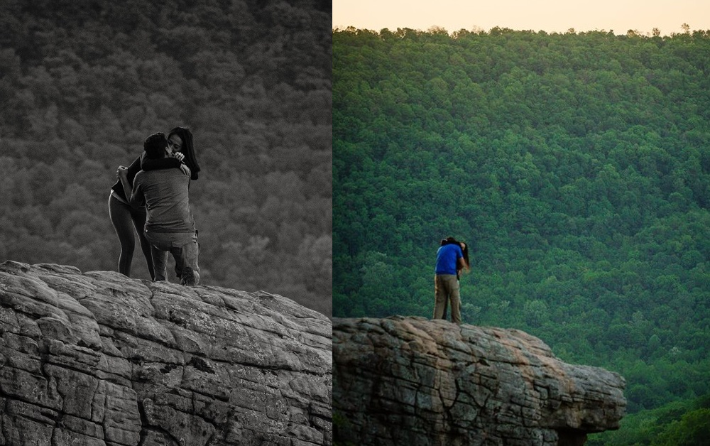 Rossz leánykérésről készített tökéletes fényképeket a fotós a romantikus sziklán
