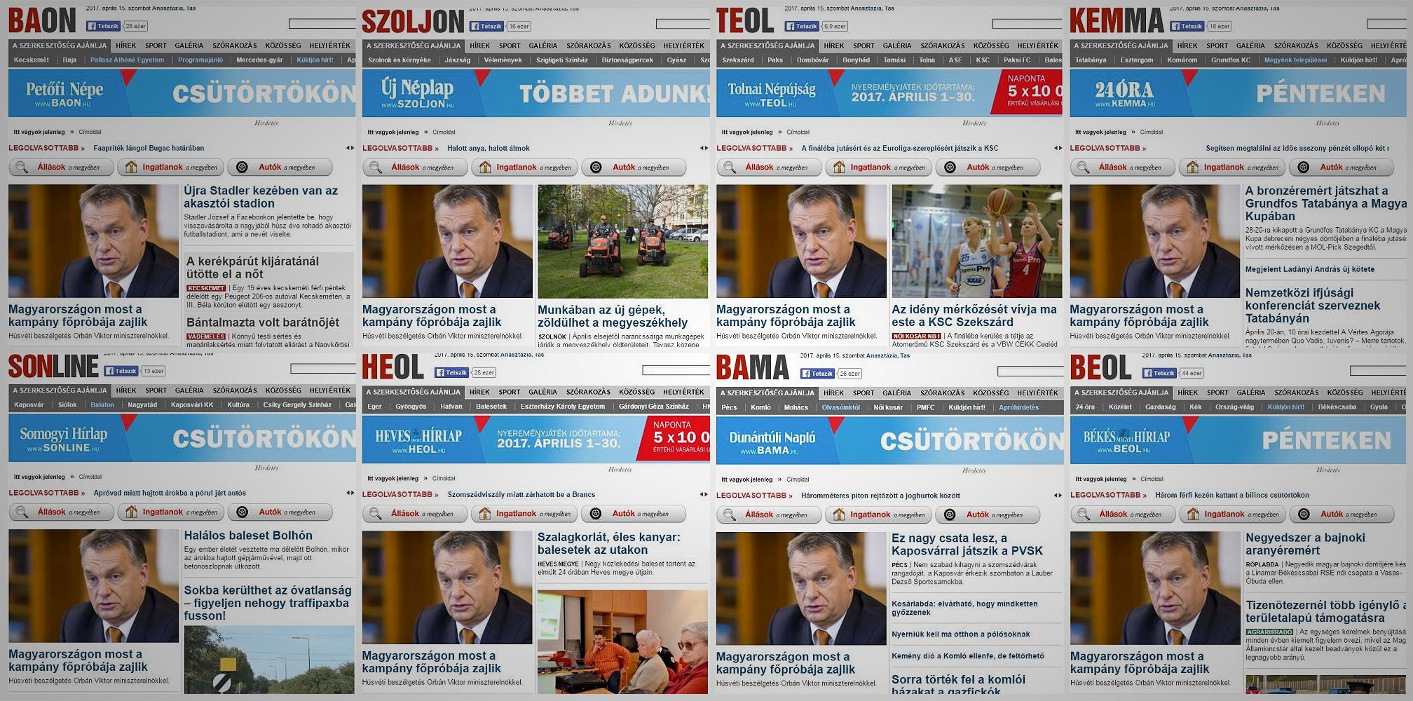 Hónapról hónapra fogy Mészáros Lőrinc megyei lapjainak olvasótábora