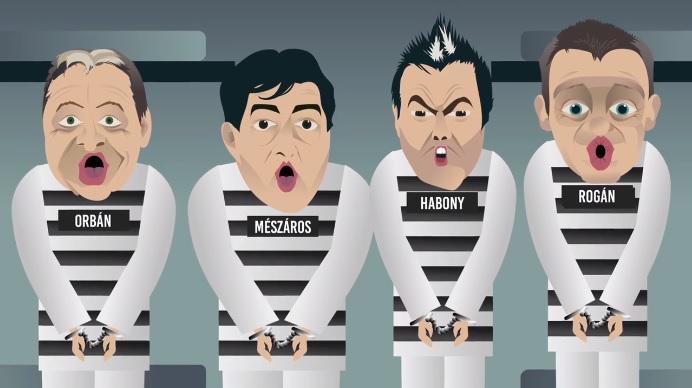 """""""Én elmentem a Viktorhoz fél ésszel"""" – a Jobbik animált klippel ment neki Orbánnak, Rogánnak, Habonynak és Mészáros Lőrincnek"""