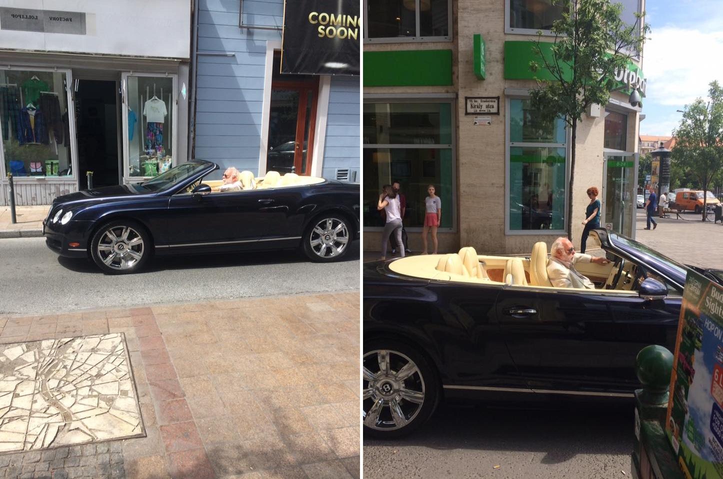 Bárdos Deák Ágnes Vajnát látott egy Bentley kabrióban, és nem habozott lefotózni
