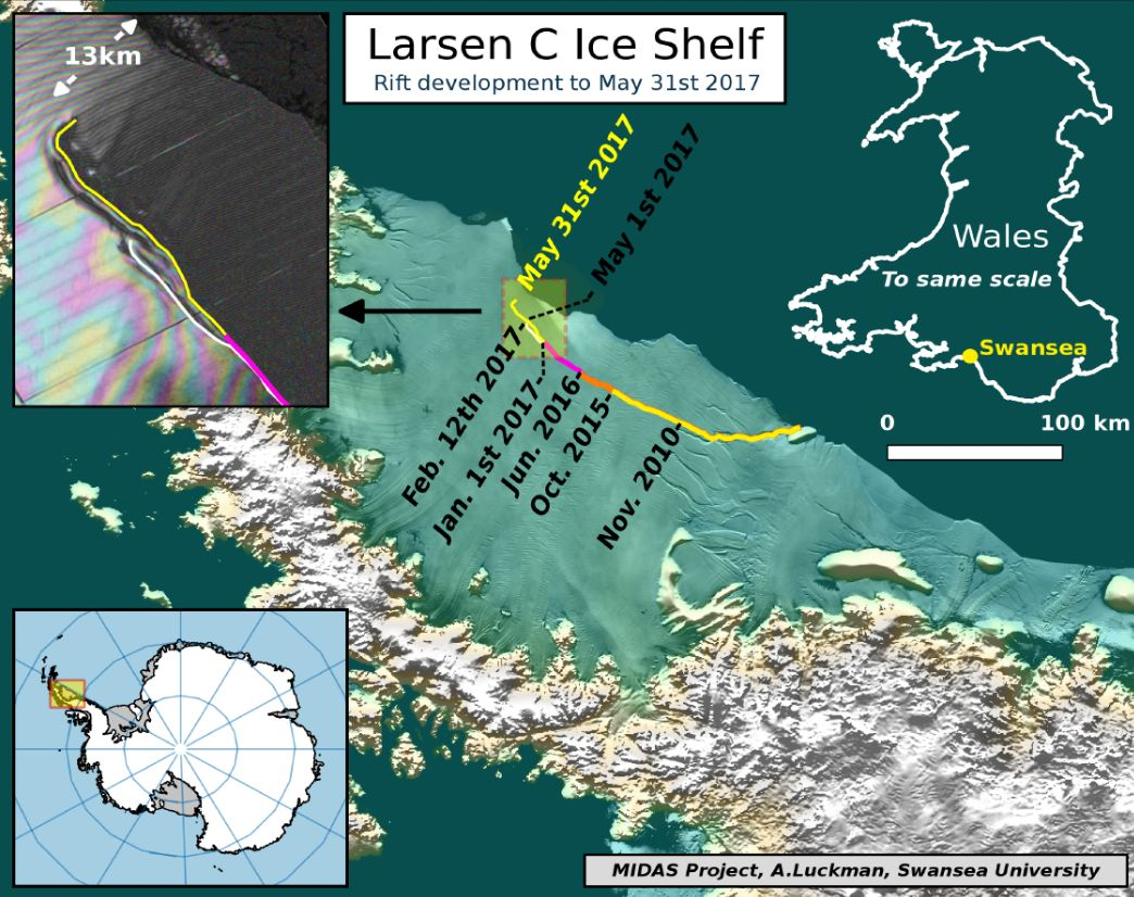 Leszakadt a gigantikus jéghegy az Antarktiszról