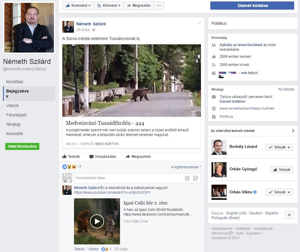 Nem biztos, hogy a világ felkészült a facebookozó Németh Szilárdra