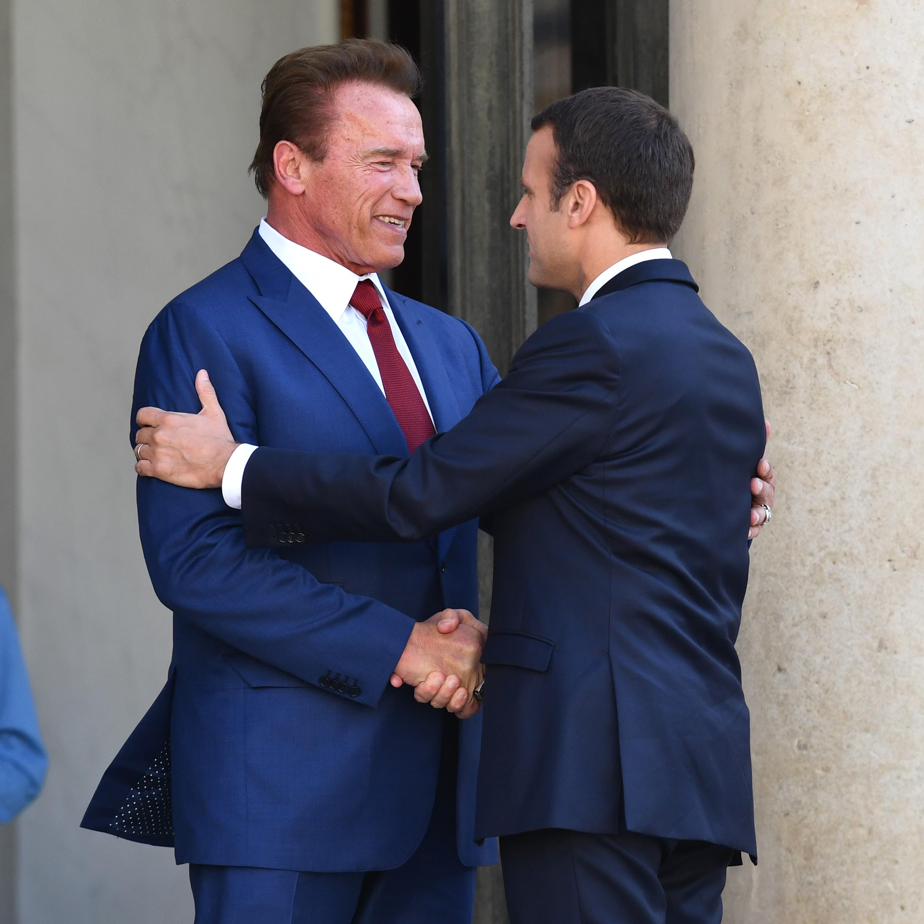 Schwarzenegger és Macron együtt üzente meg Trumpnak, hogy hülyeség volt kilépni a klímaegyezményből