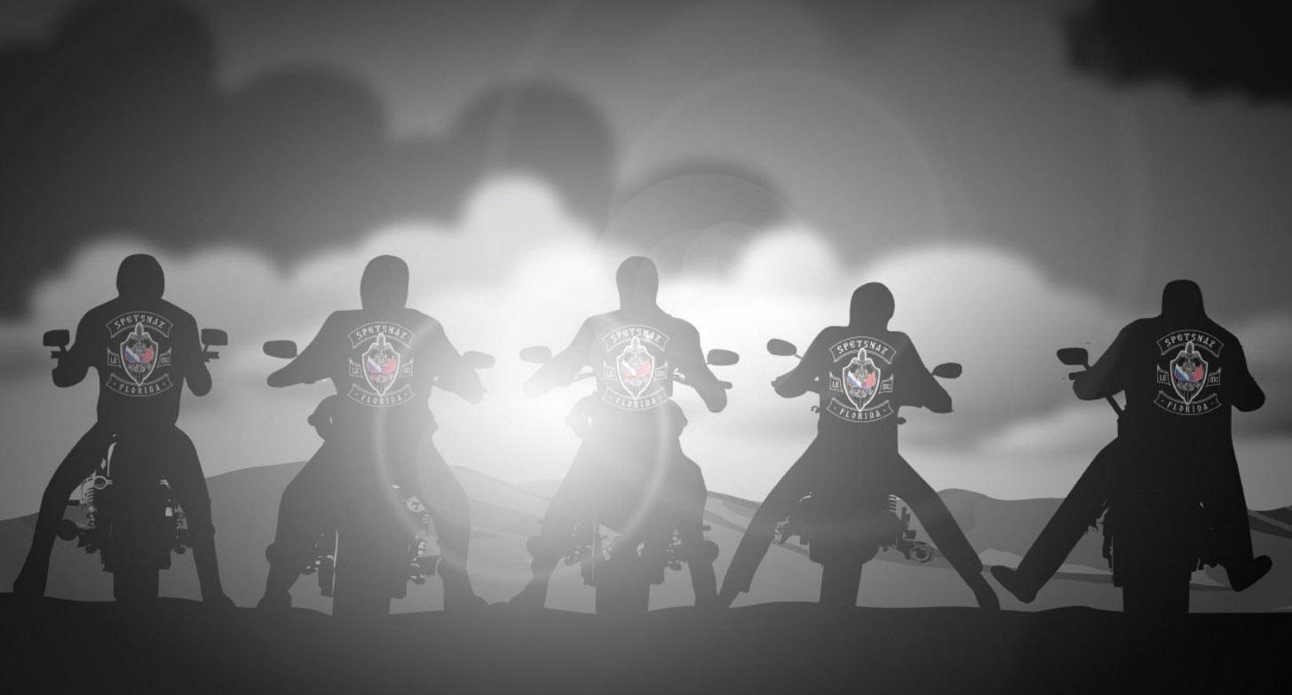 Az orosz különleges alakulatok embereiből verbuvált motoros banda őrködik a rend fölött Floridában