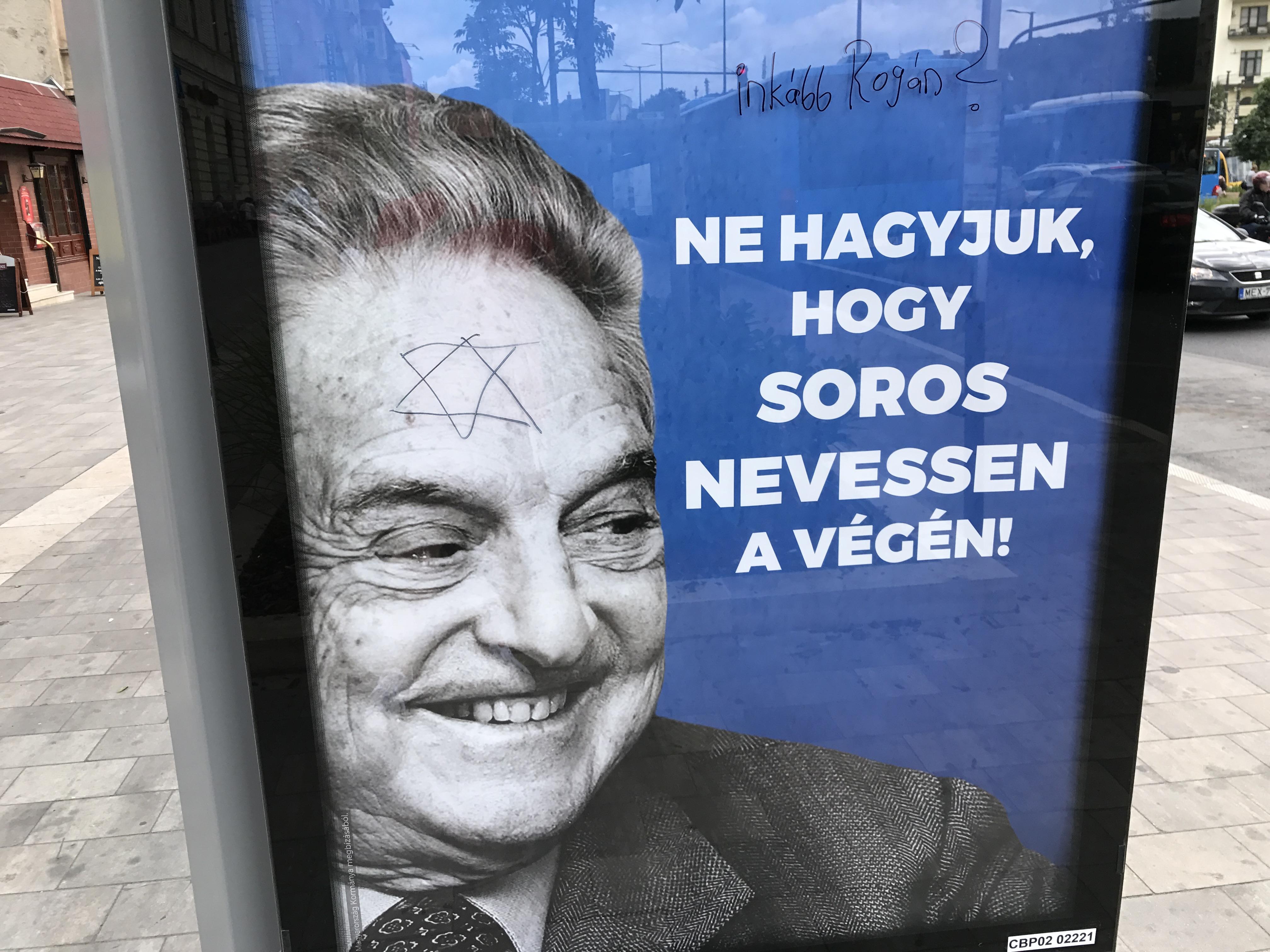 Megdöbbent a mindent beborító Soros-plakátokat látva a német államminiszter