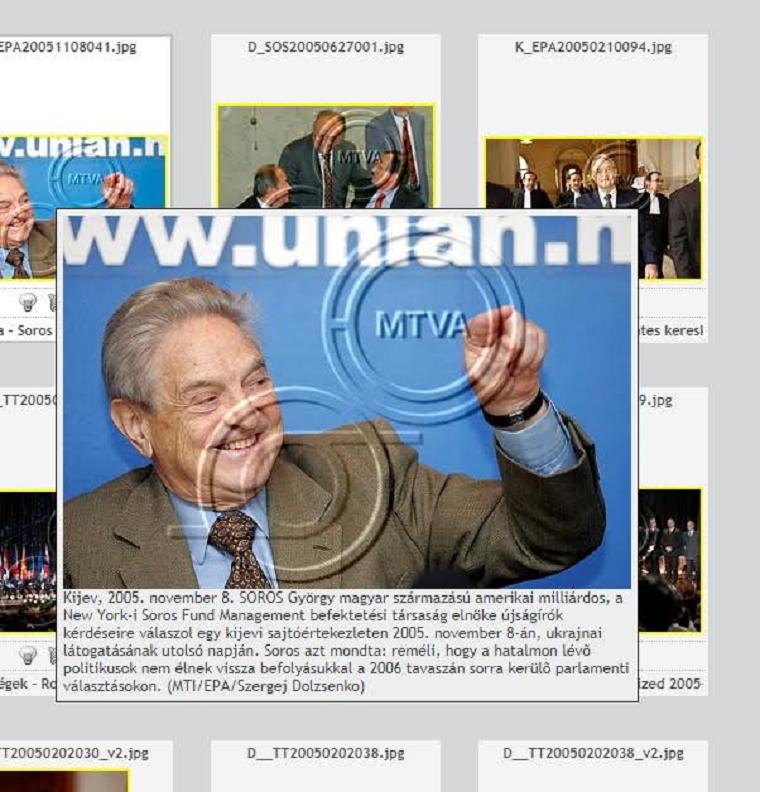 Hatvenezer forintért vették a plakátokon látható Soros-fotót az MTI-től