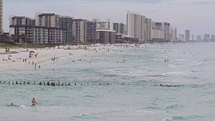 80 emberből álló élőlánccal mentettek ki egy bajba jutott családot Floridában