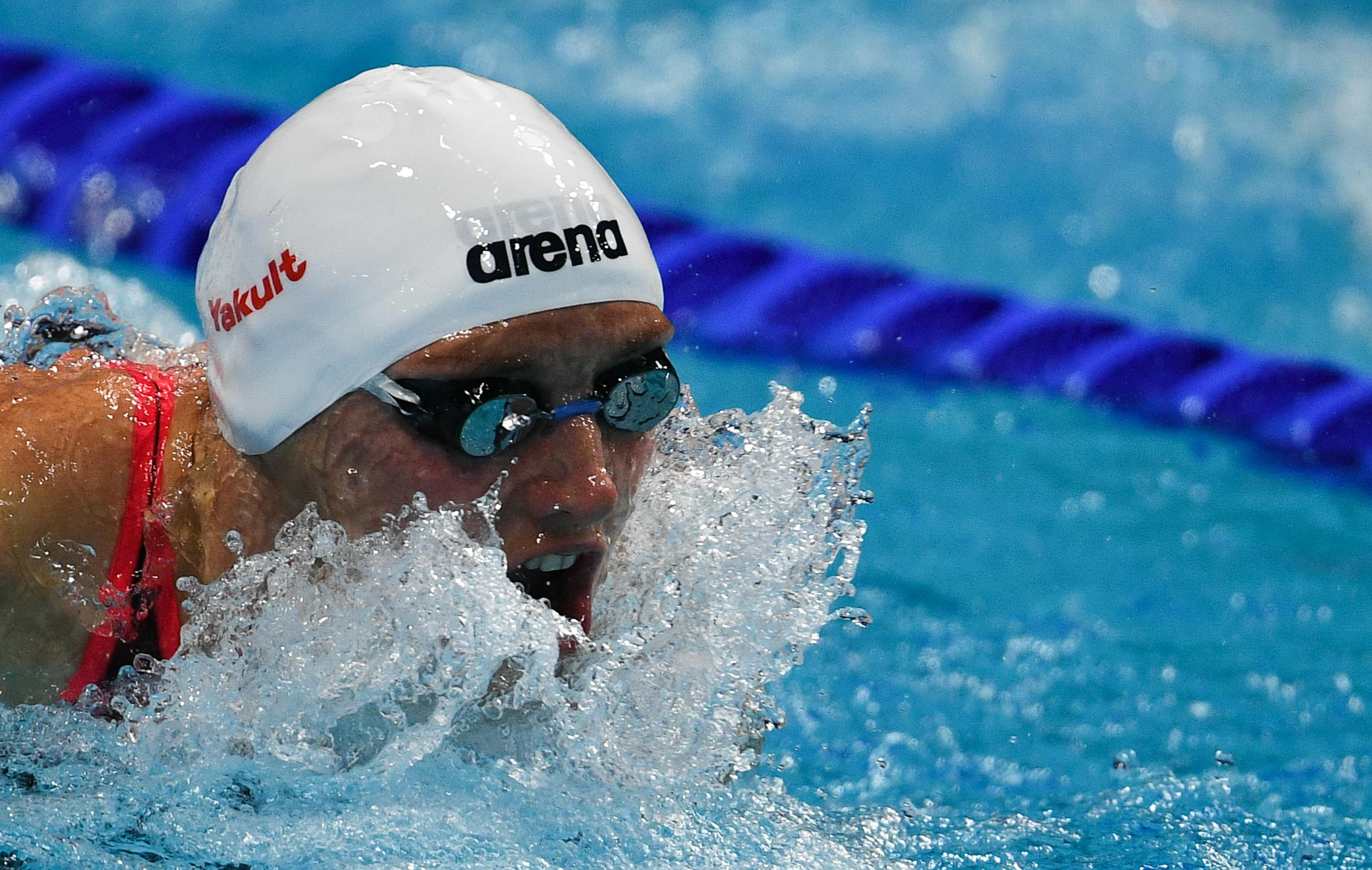 A friss világbajnok Hosszú Katinka két aranyat és egy ezüstöt nyert a moszkvai rövidpályás úszó világkupán