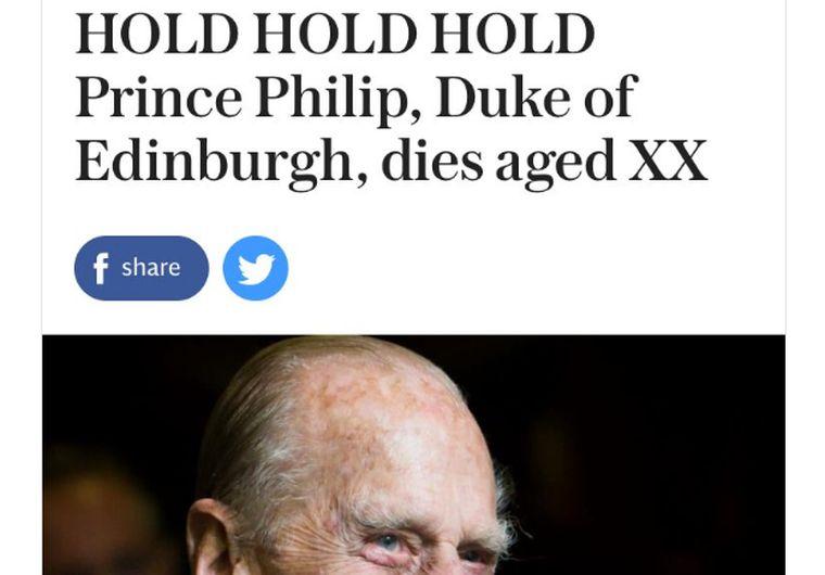 Megint idő előtt temette Fülöp herceget egy brit lap