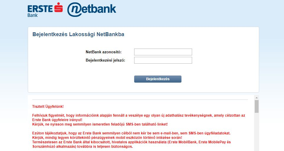 Magyar banki ügyfelek adatait akarják az adathalászok