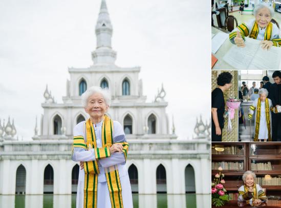 91 évesen szerzett diplomát a thai nagymama