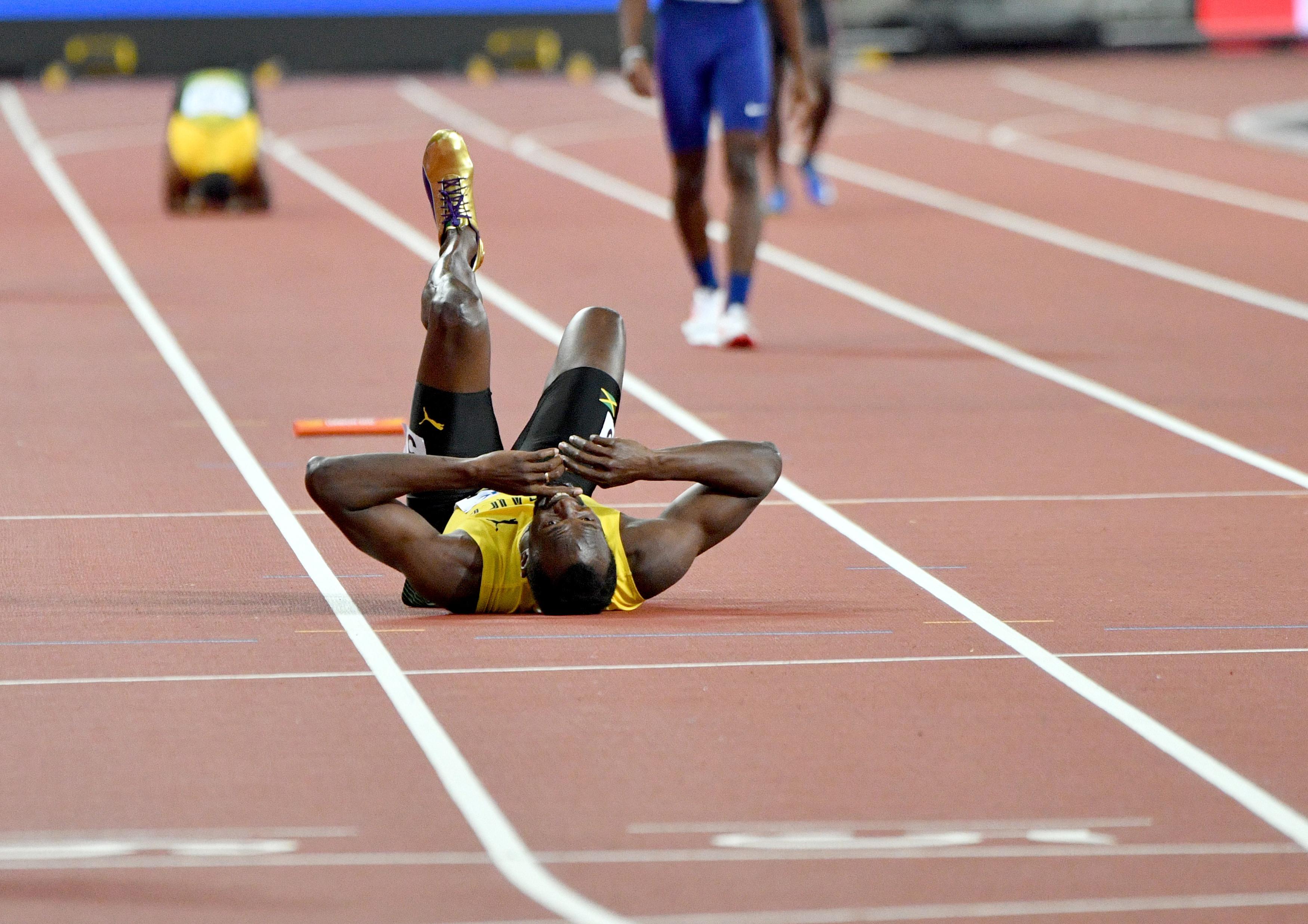 Usain Bolt megsérült élete utolsó versenyén