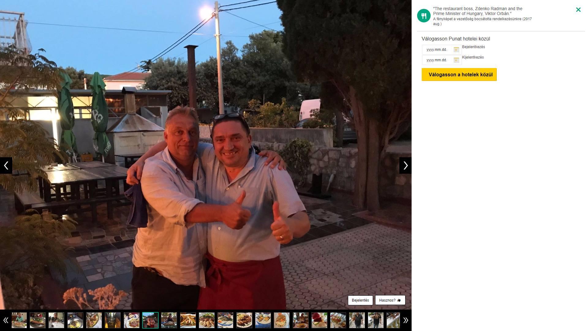 Egy horvát étteremtulajdonos buktatta le Orbánt, aki nem akarta elárulni, hol nyaral