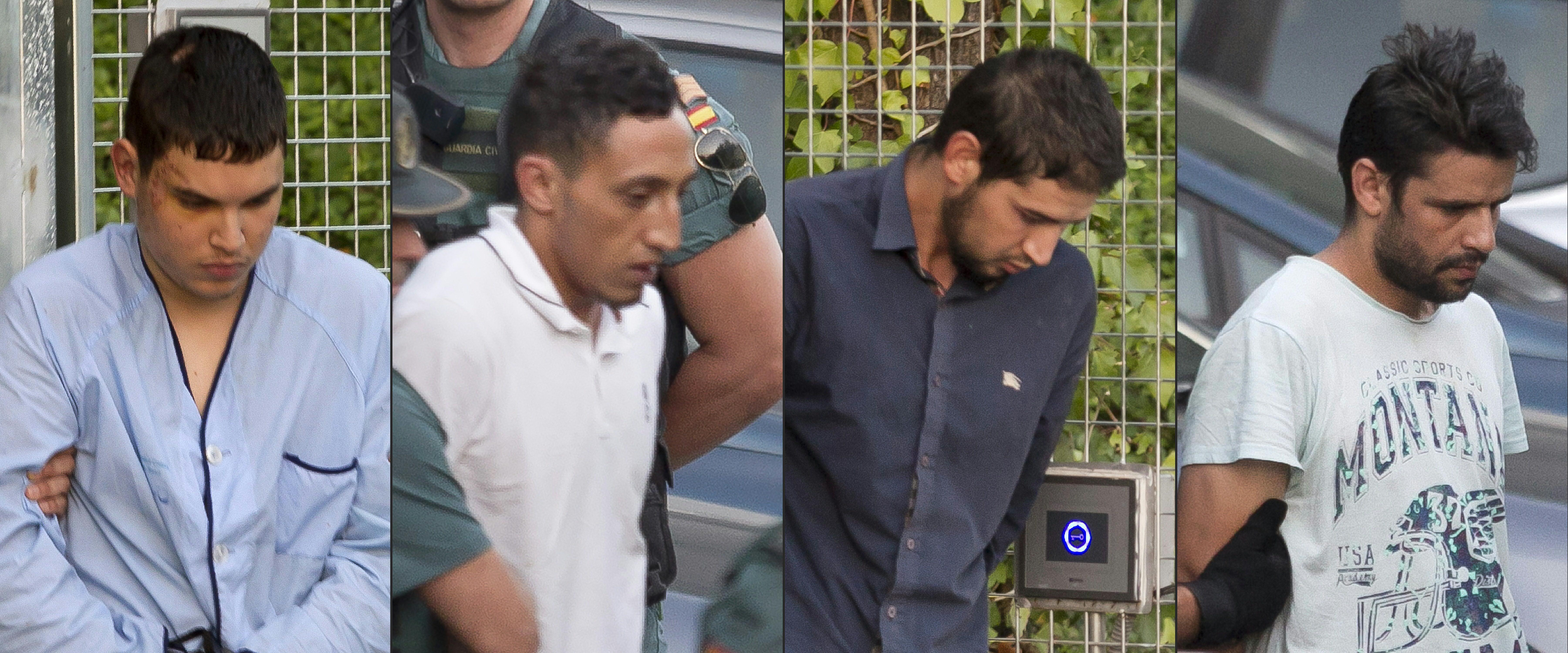 Bíróság elé álltak a barcelonai terrortámadás gyanúsítottjai
