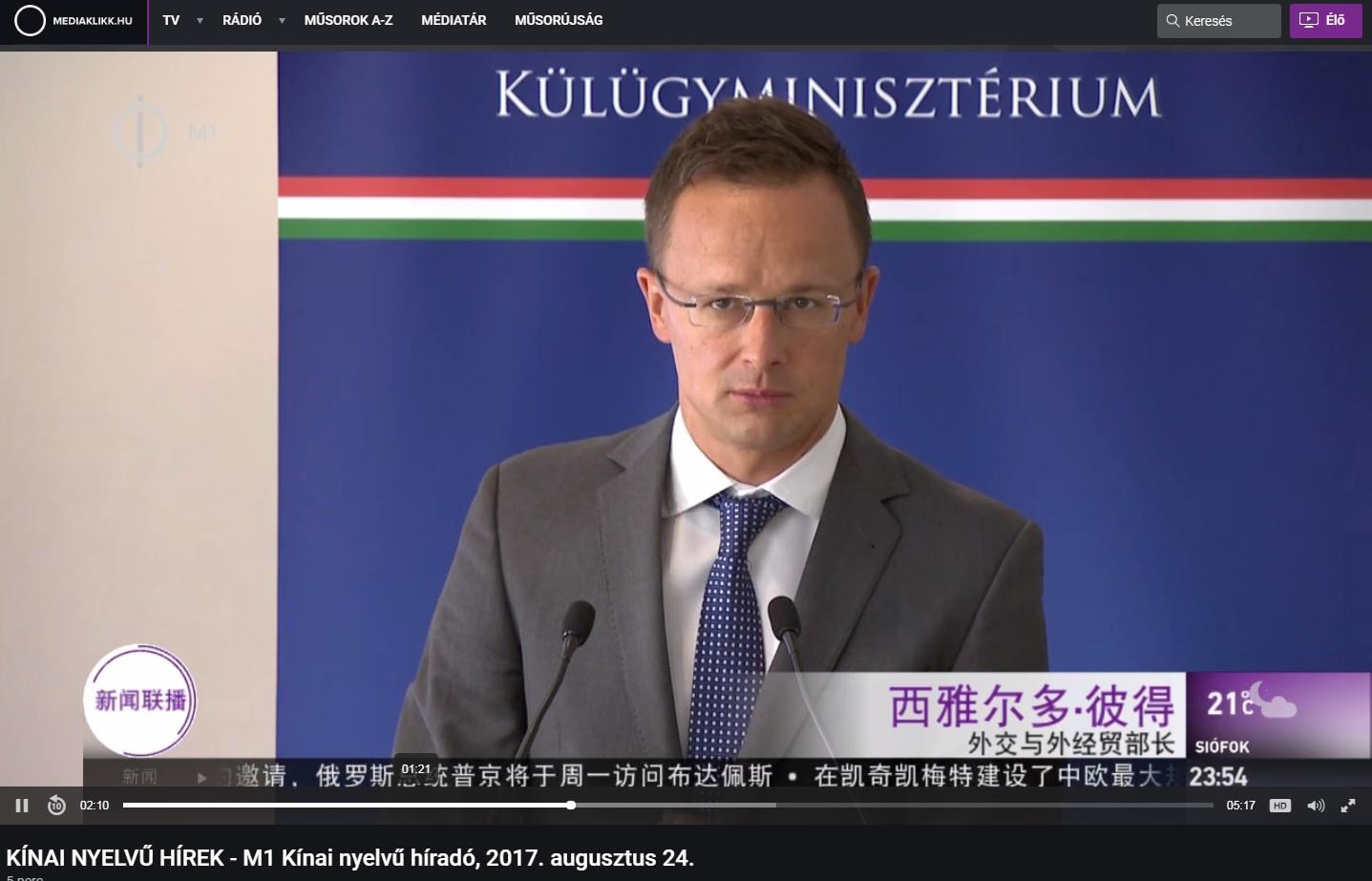 Szijjártó: Nonszensz, hogy azt akarják, Kína bírálatával csökkentsük a gazdasági érdekérvényesítő képességünket