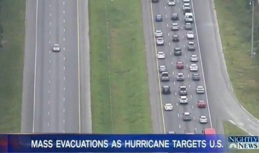Megszólalt a hurrikán elől menekülő autósokkal ellenkező irányba száguldó, mémmé változott nő
