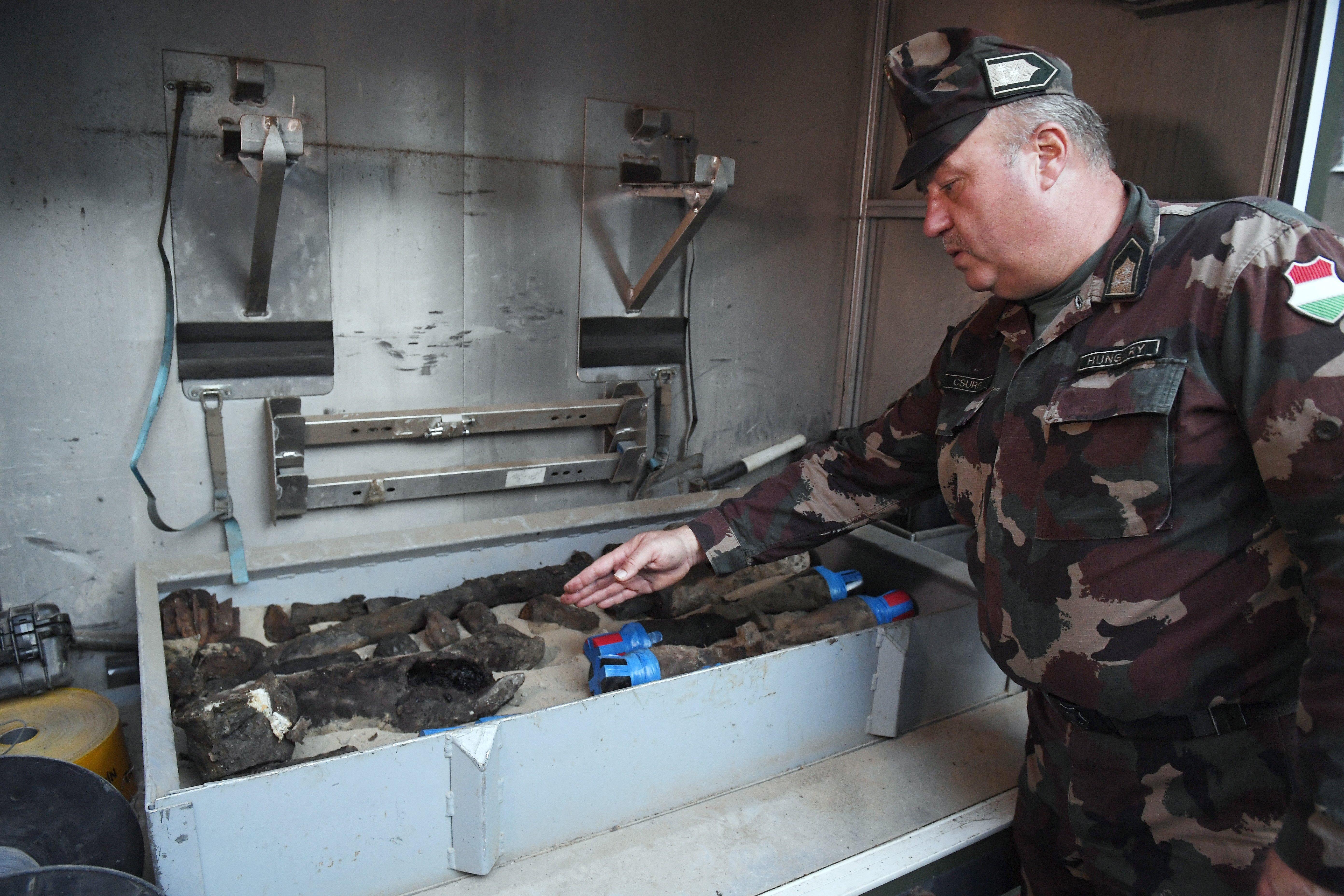 Rengeteg bombát találtak a Millenárisnál