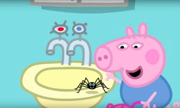 Betiltottak egy rajzfilmet Ausztráliában, mert a malacpapa azt tanította benne a malacgyerekeknek, hogy az óriáspókok nem veszélyesek
